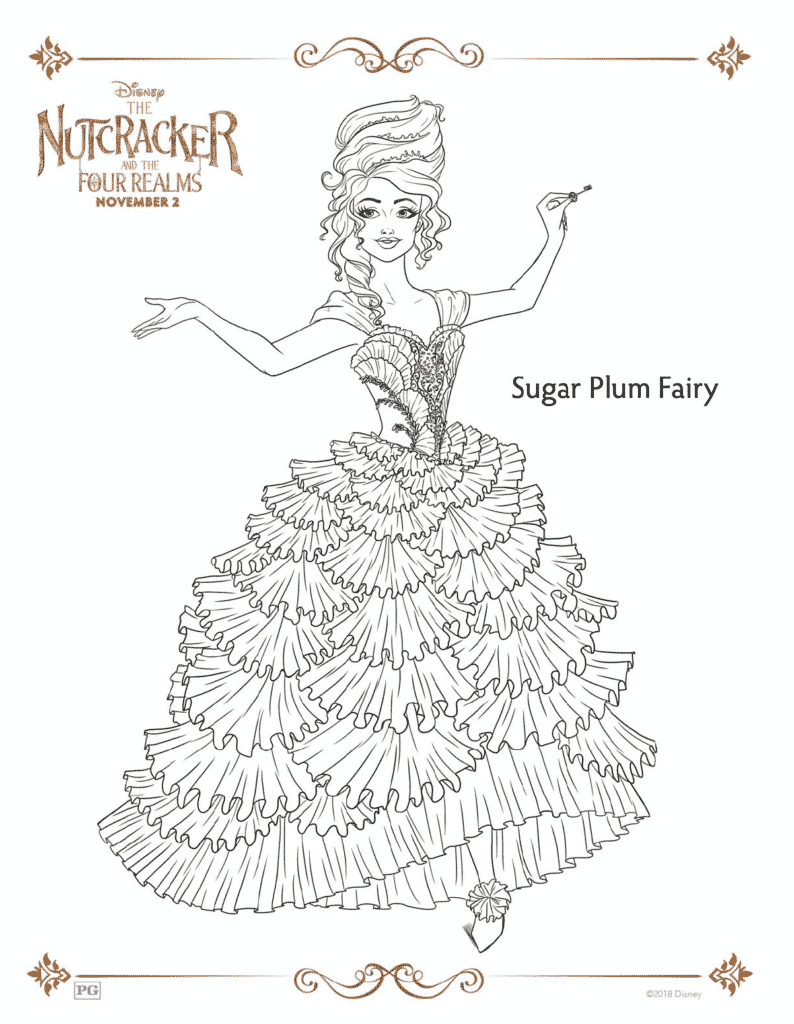 The Nutcracker And The Four Realms Free Coloring Pages 30