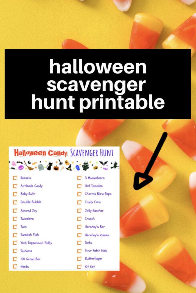 candy scavenger hunt ideas