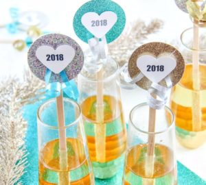 New Year's Eve DIY Craft - Handmade Drink Stirrers for New Year's Eve Parties