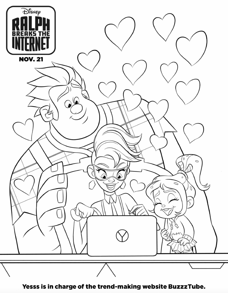 Ralph Breaks The Internet Coloring Pages And Activity Sheet - Free Downloads #RalphBreaksTheInternet