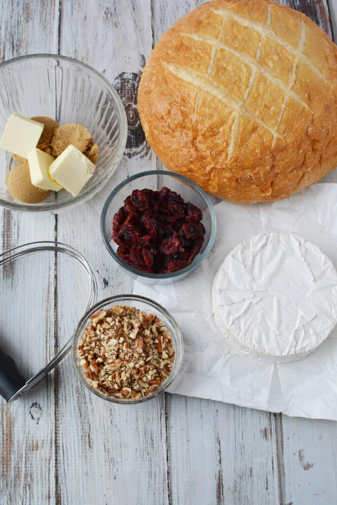 cranberry brie pull apart bread ingredients