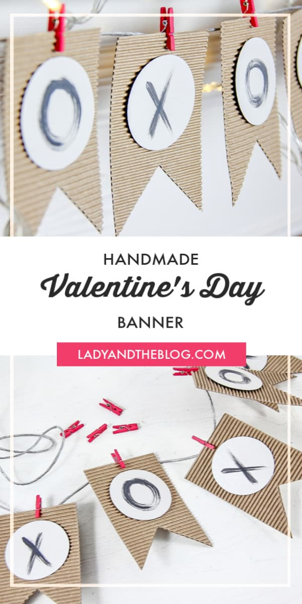 DIY Handmade Valentine's Day Pennant Banner