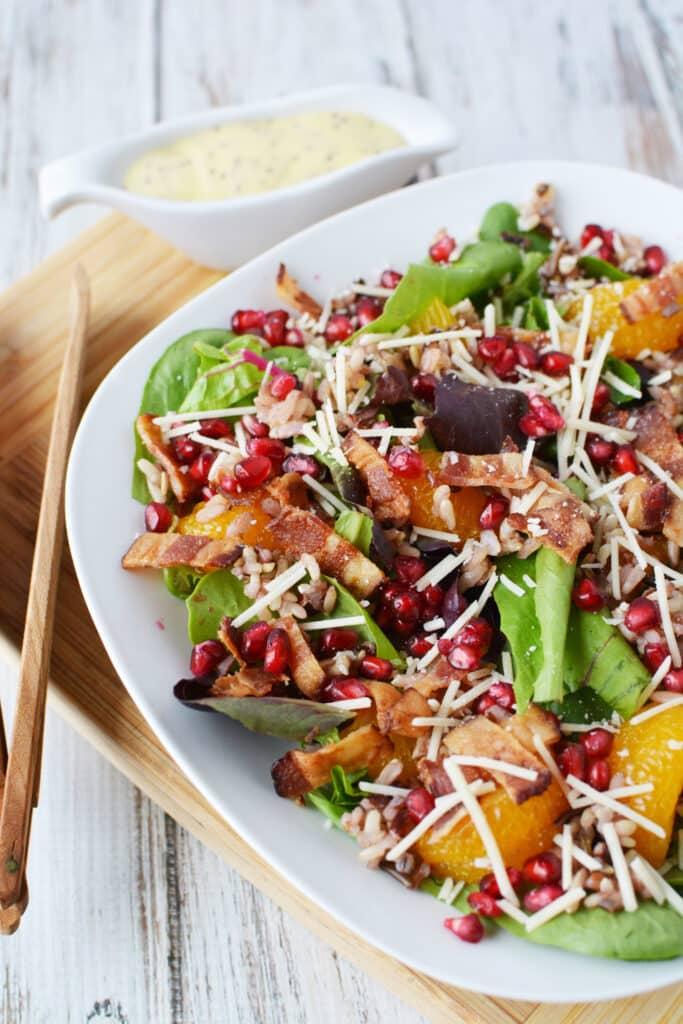 pomegranate rice salad