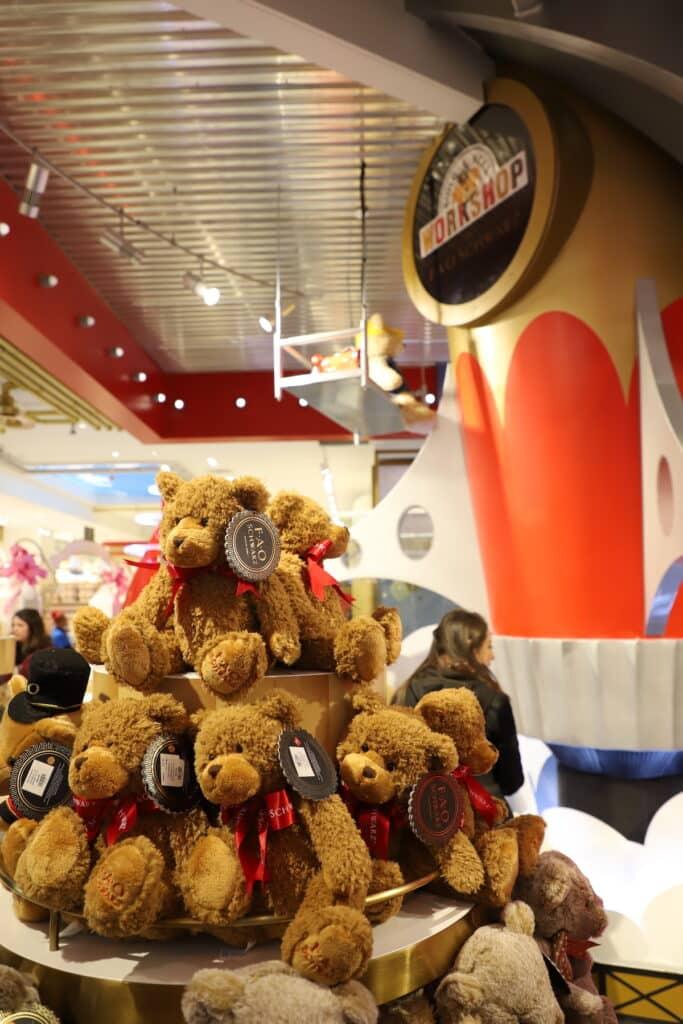 stuffed bears at FAO
