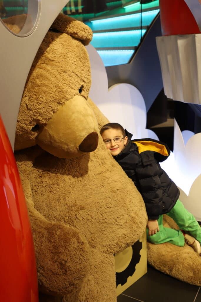 FAO Schwarz oversized bear at Rockefeller Plaza In NYC