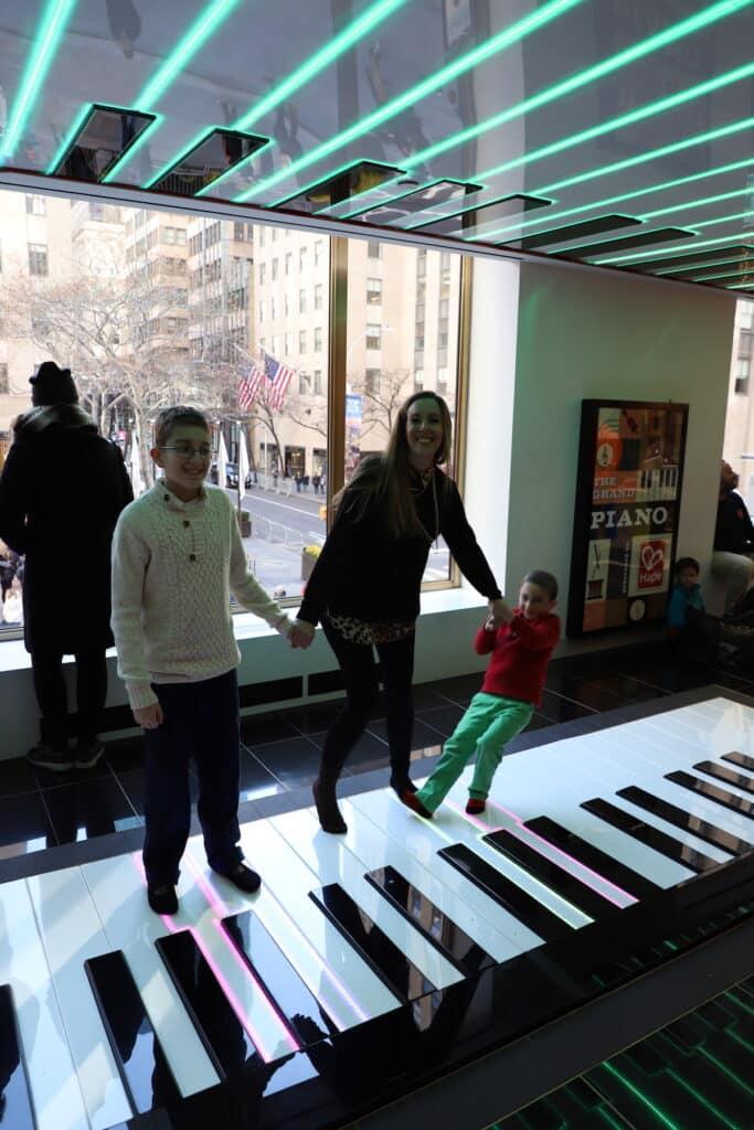 FAO giant piano Rockefeller Plaza In NYC