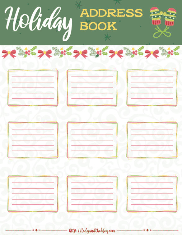 Get Ready For The Holidays - Free Printable Of The Holiday Organization Planner