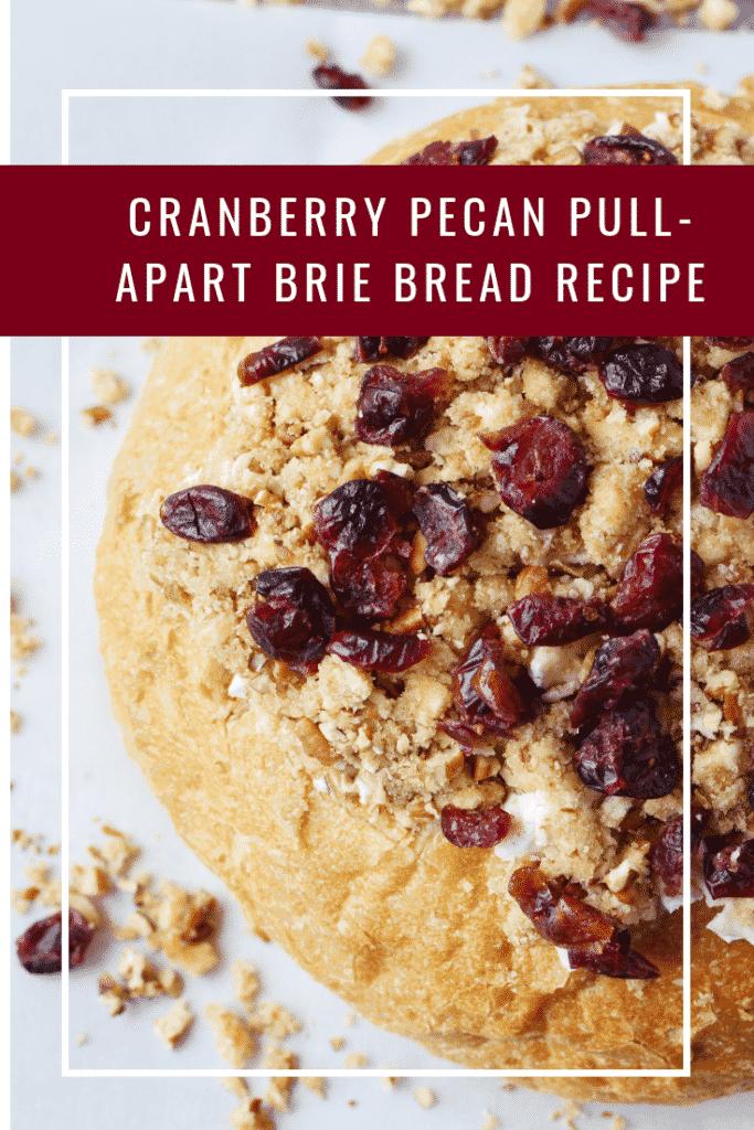Cranberry Pecan Pull Apart Brie Bread Recipe