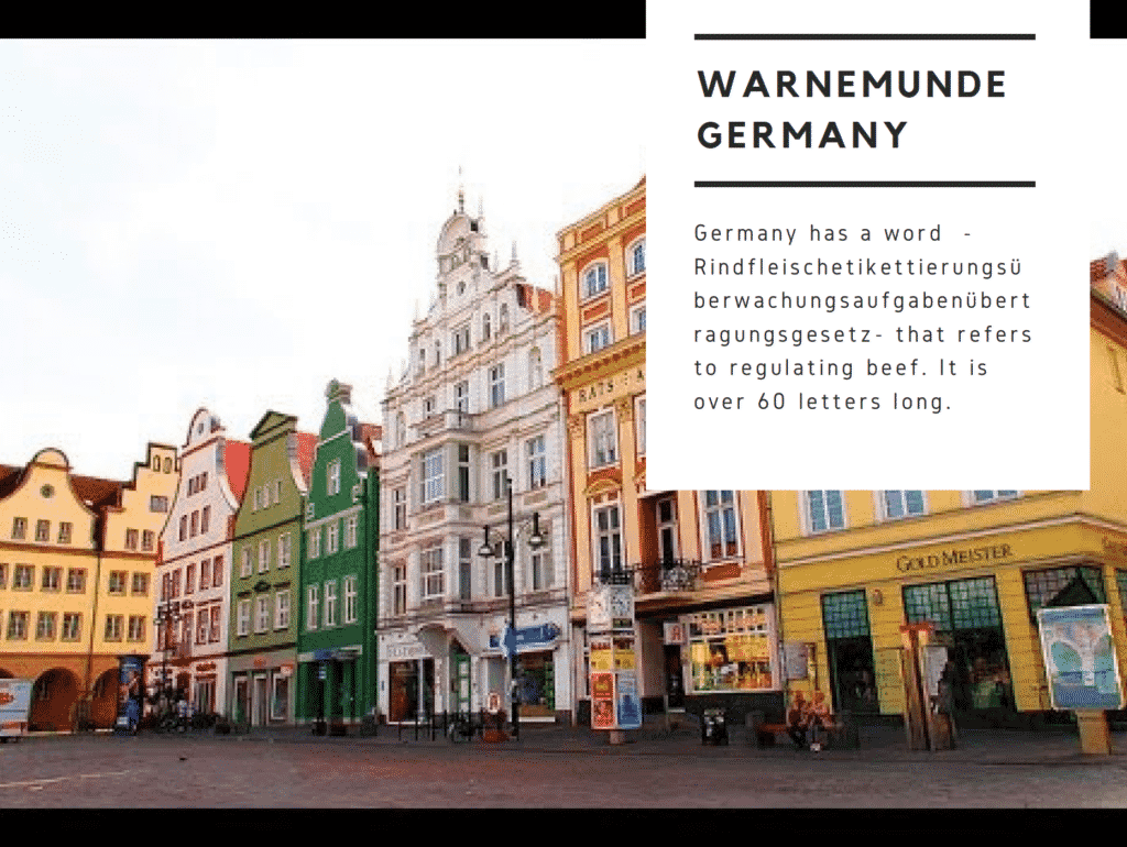 Fun facts about Warnemunde Garmany