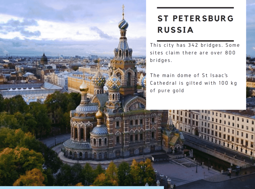 Facts about St Petersburg Russia
