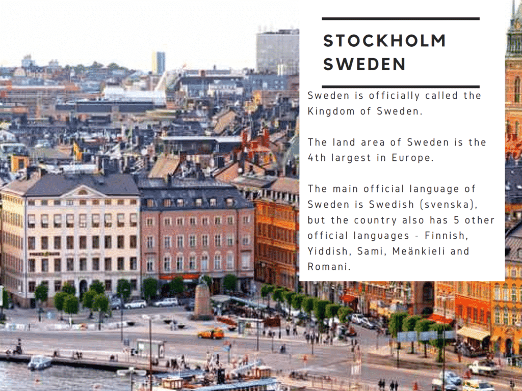 Things to Know About Stockholm Sweden