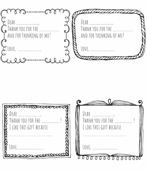 Thank You Notes From Kids Free Printable