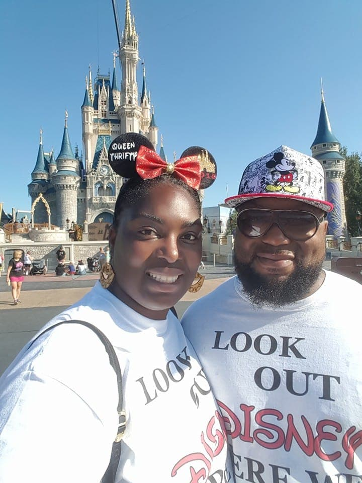 Husband and Wife Selfie Cinderella Castle