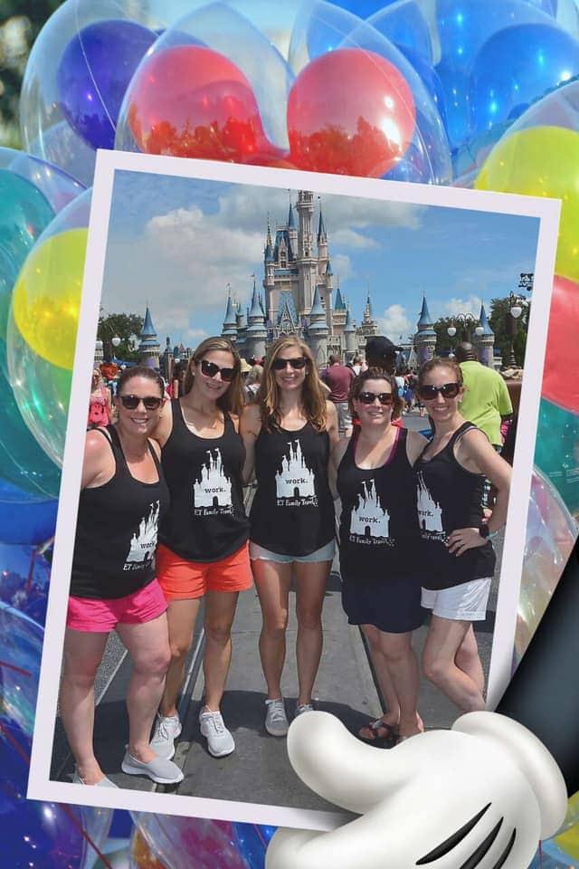 Moms in front of Disney Castle Work Disney Tanks