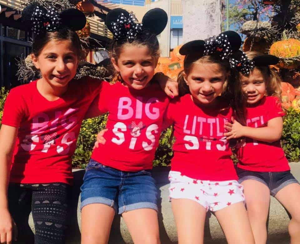 Minnie Mouse Ears Sister Photo
