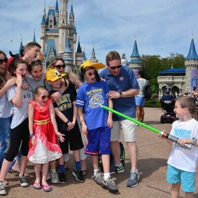 Cinderella Castle Family Photo