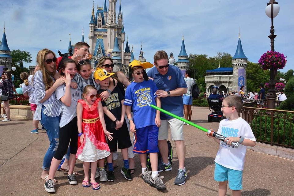 Cinderella Castle Memory Maker Family Photo