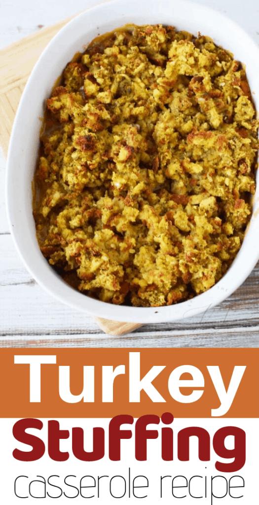 turkey stuffing casserole recipe
