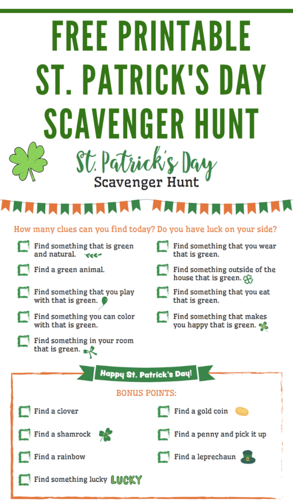 st. patty's day activities for kids
