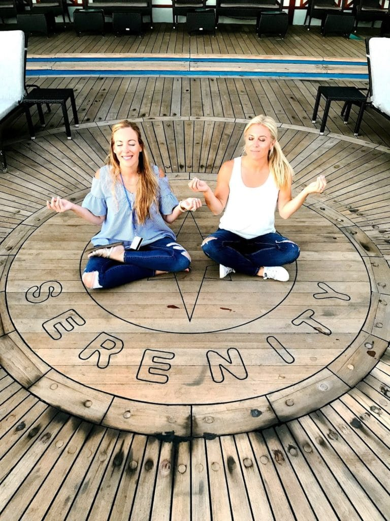 Vera Sweeney Audrey McClelland Serenity Deck Carnival Cruise