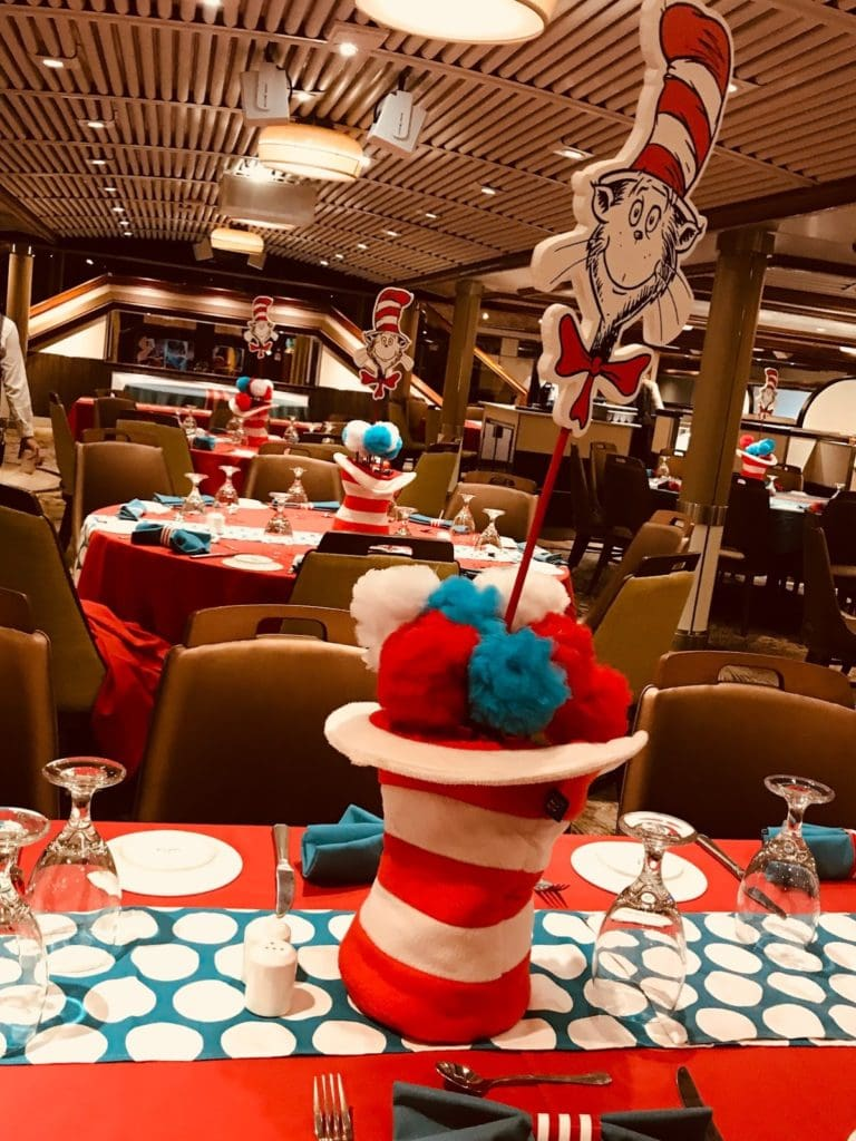 cat in hat dining room carnival cruise