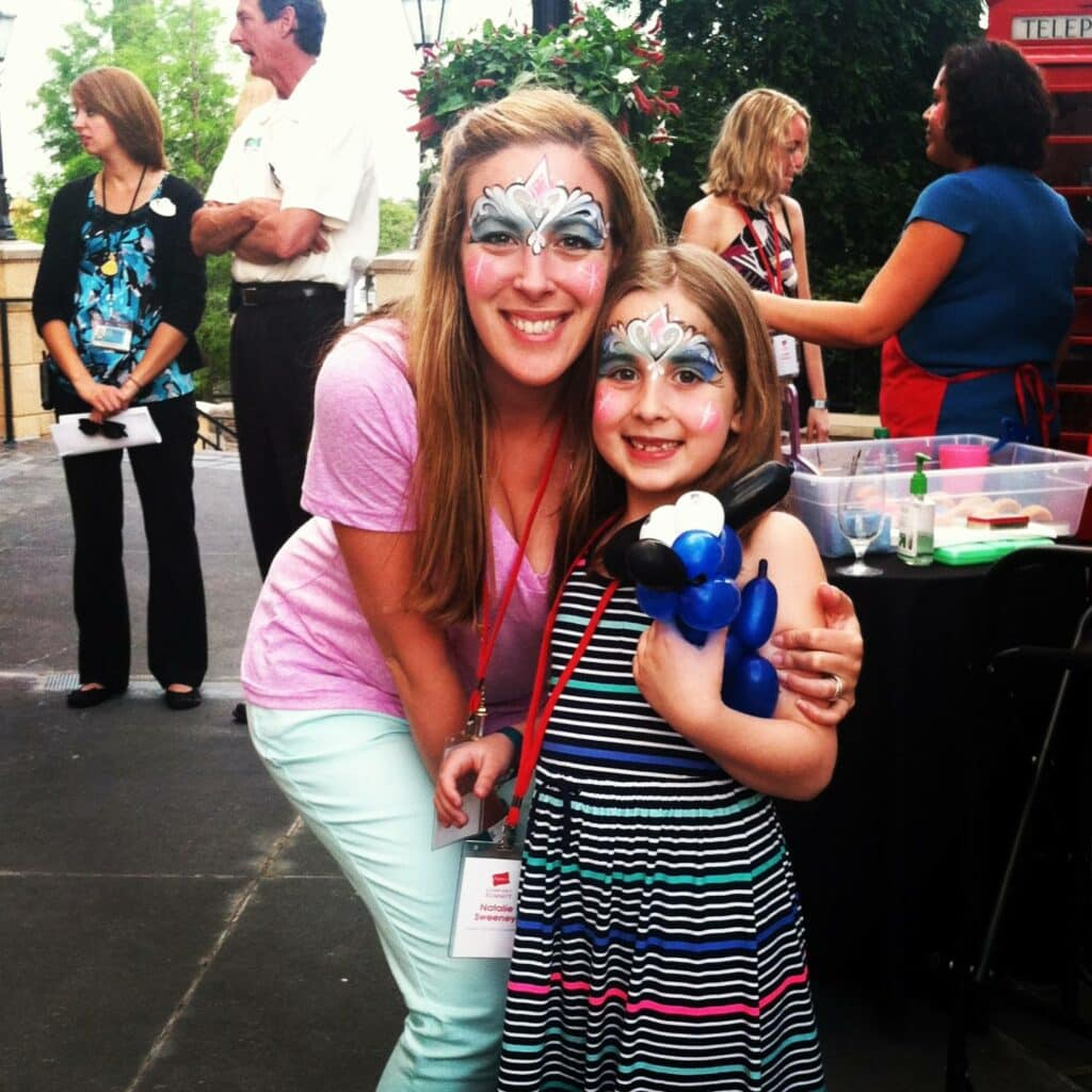Face Painting Mother Daughter Disney World