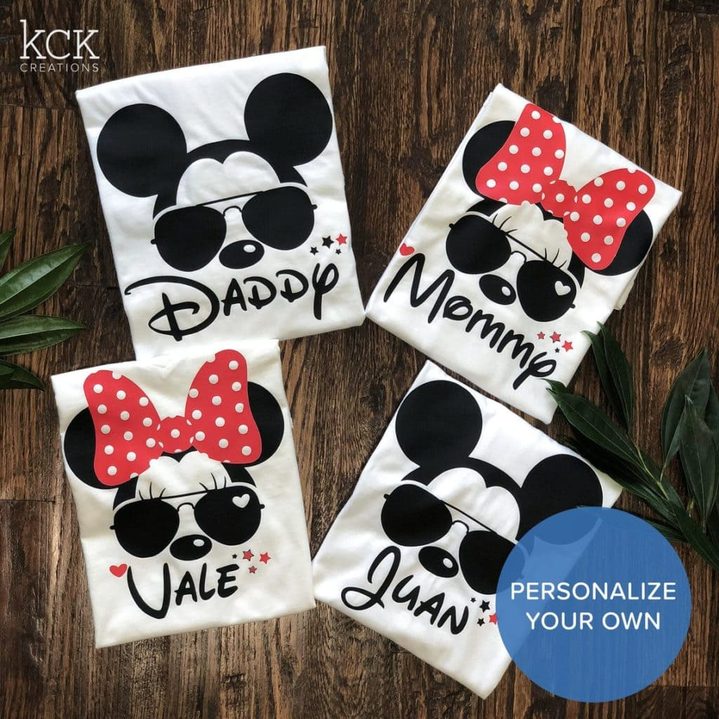 Daddy Mommy Mickey Mouse Sunglasses Shirt