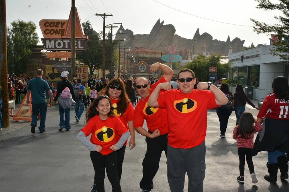 Incredible Matching Disney Family in Carsland