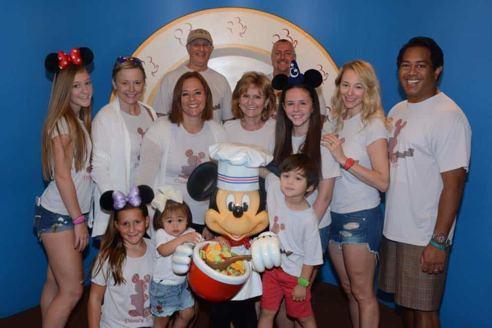 Family Photo with Chef Mickey