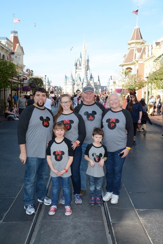 Initials in Mickey head on Main Street