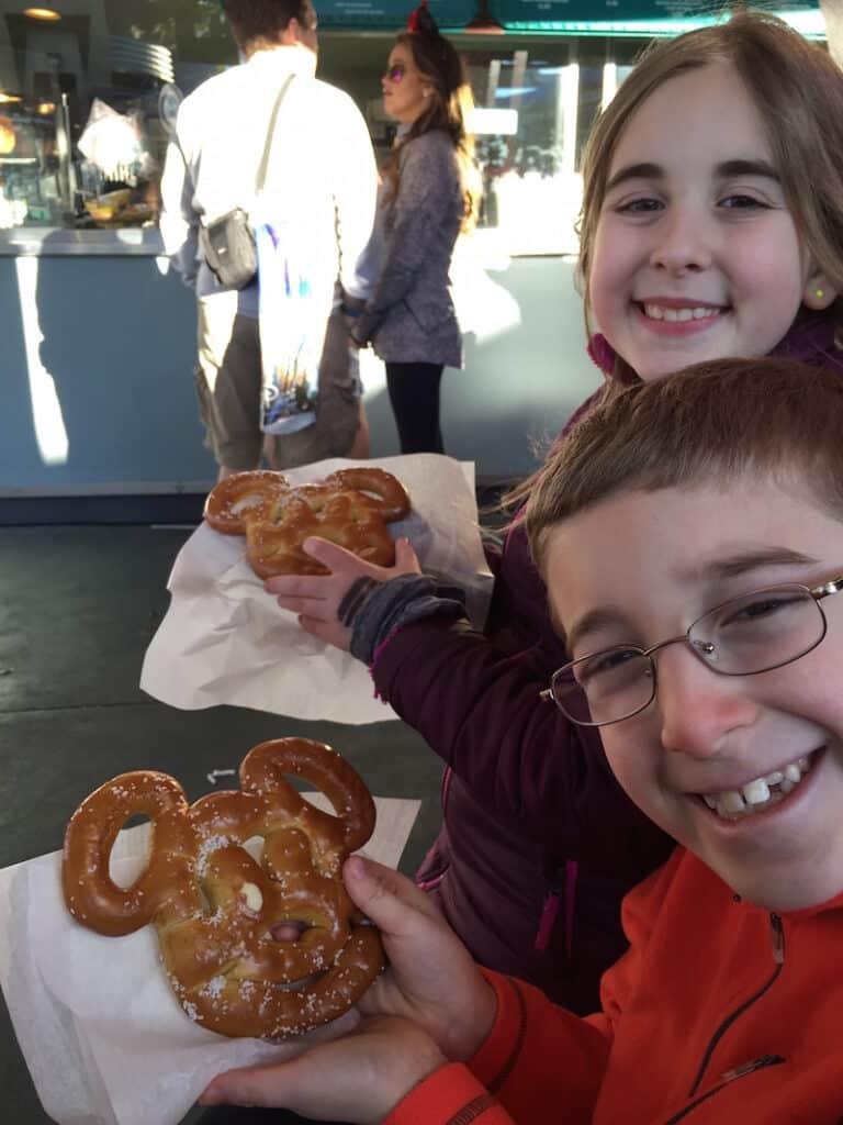 Mickey Shaped Pretzel at Disney World Dessert