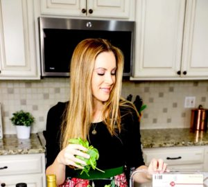 Woman Making Salad New Year's Resolution