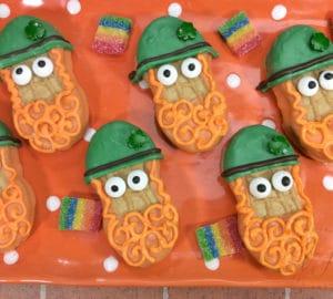 Leprechaun Nutter Butters Cookies - St. Patrick's Day Dessert