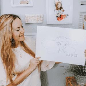 Mark Henn Ariel Drawing
