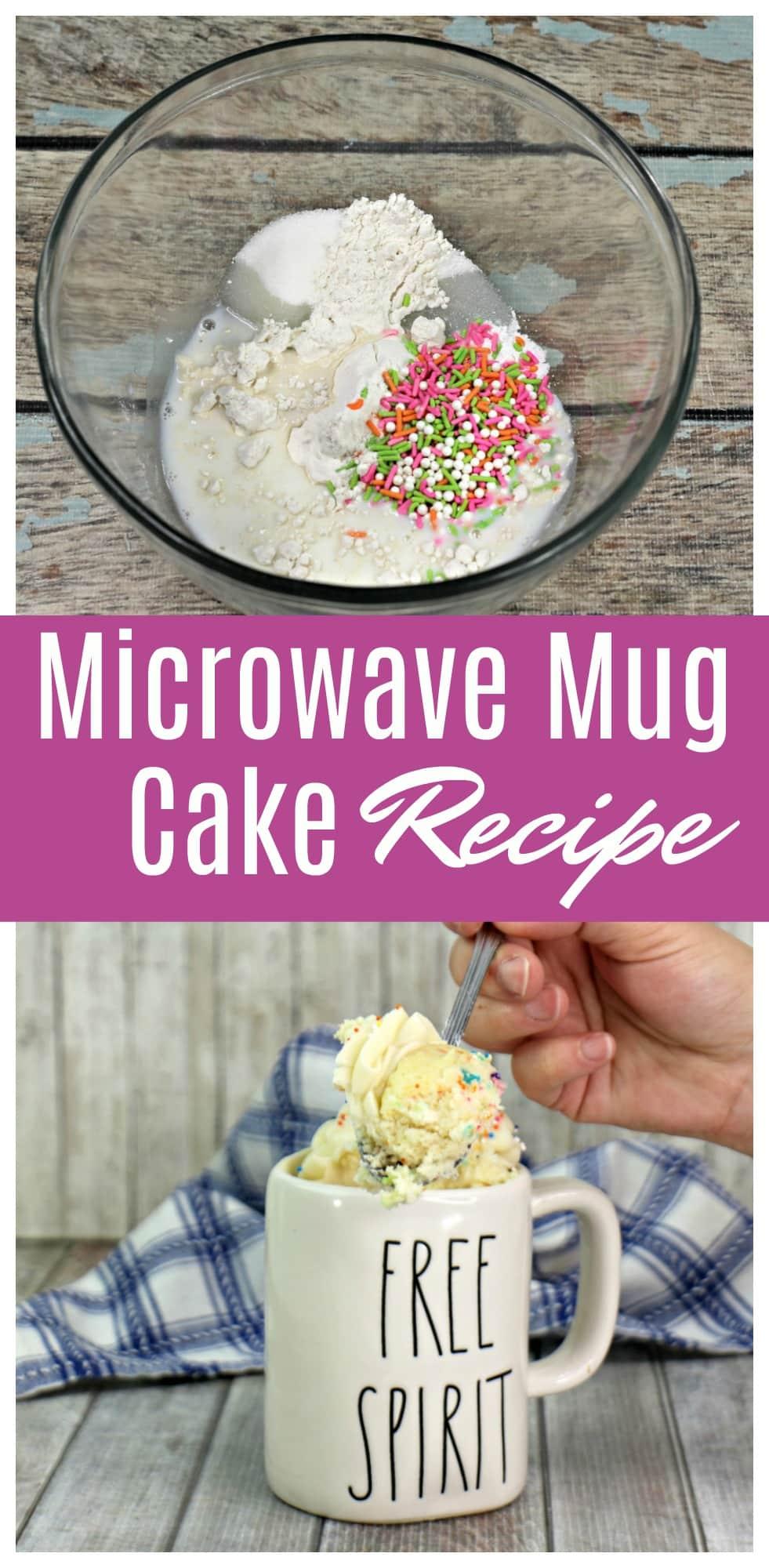 Easy Mug Cake Recipe - Funfetti Flavor For The Kids