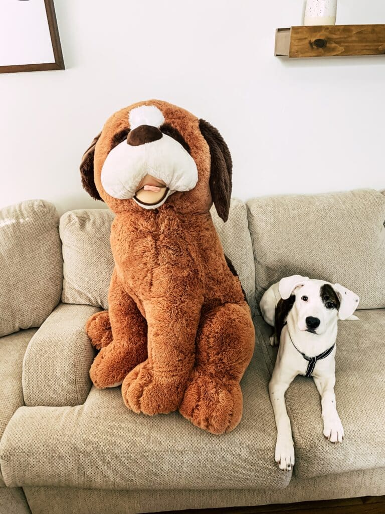 Oversized Stuffed Animal Plush Doll with child