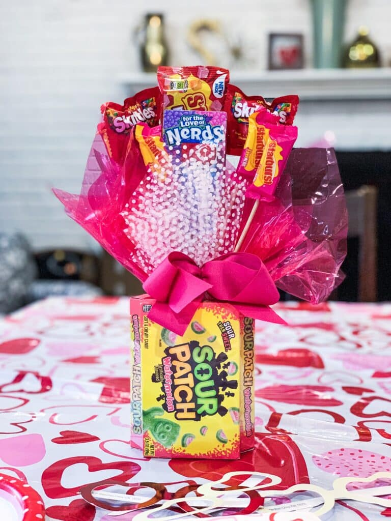 Candy bouquet for table