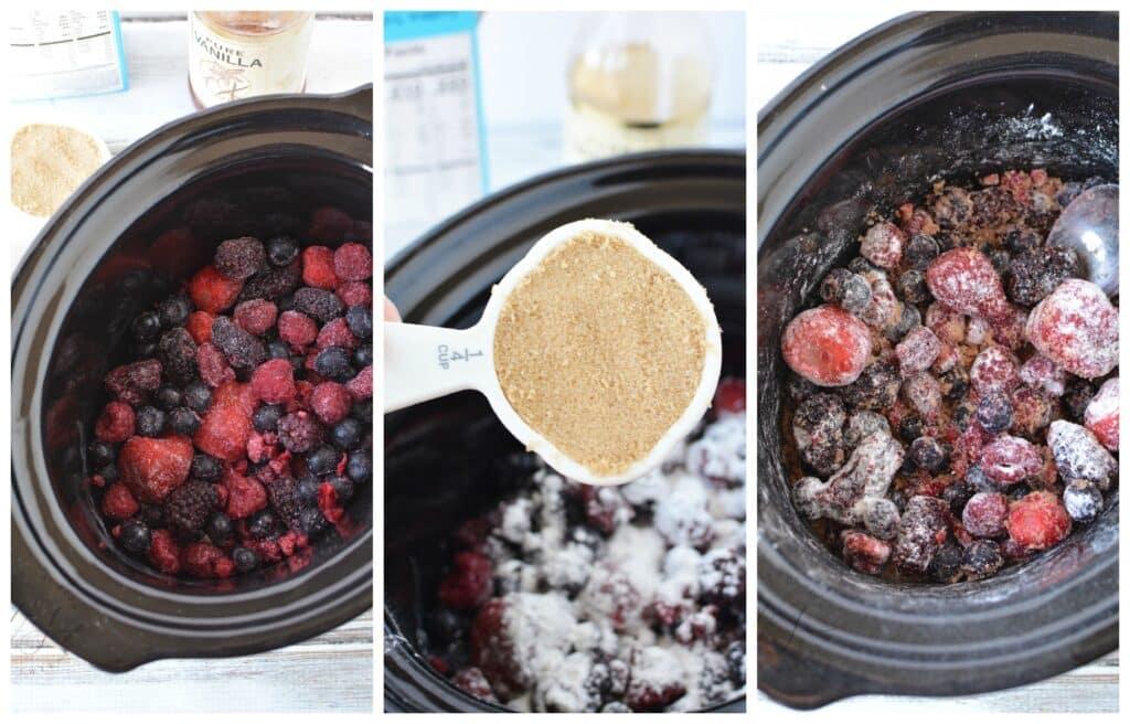 Slow Cooker Berry Cobbler Ingredients