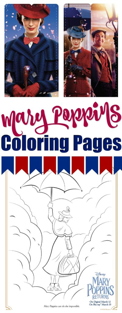 Mary Poppins Returns Coloring Pages And Activity Kit