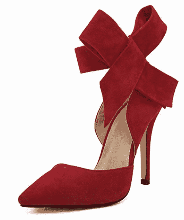MMJULY Women's Pointy Toe High Heel Stiletto Big Bow Pumps