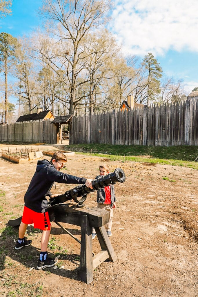 cannon Jamestown settlement virginia