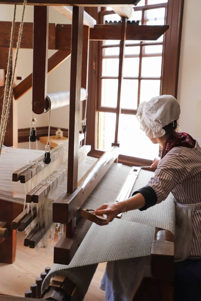 Colonial Williamsburg Weaving Fabric