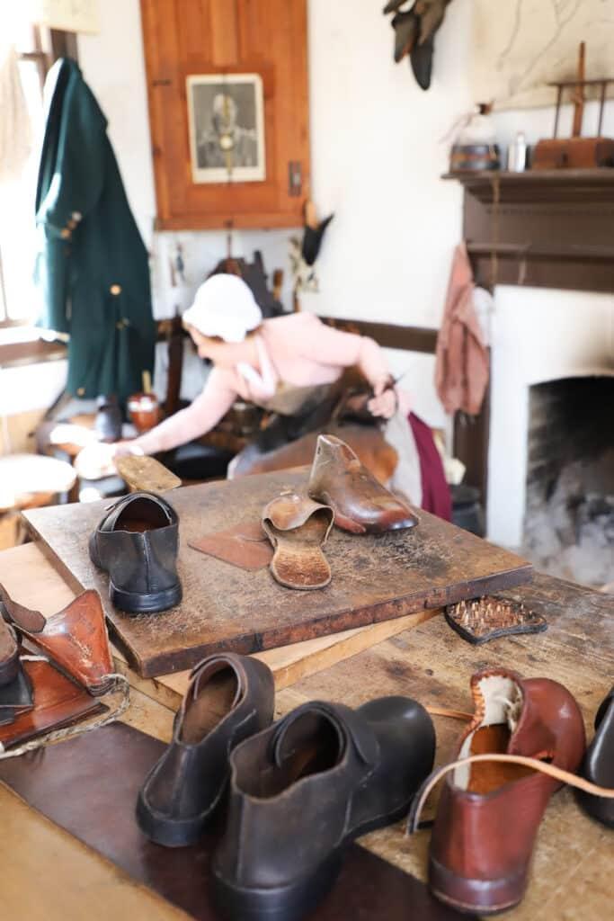 Colonial Williamsburg shoe maker