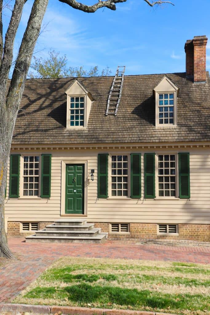 Colonial Williamsburg historic buildiings