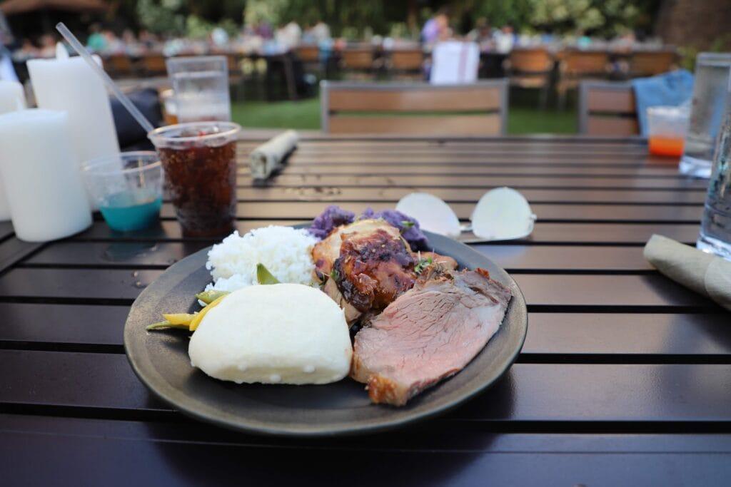 buffet options for Aulani Luau Hawaii