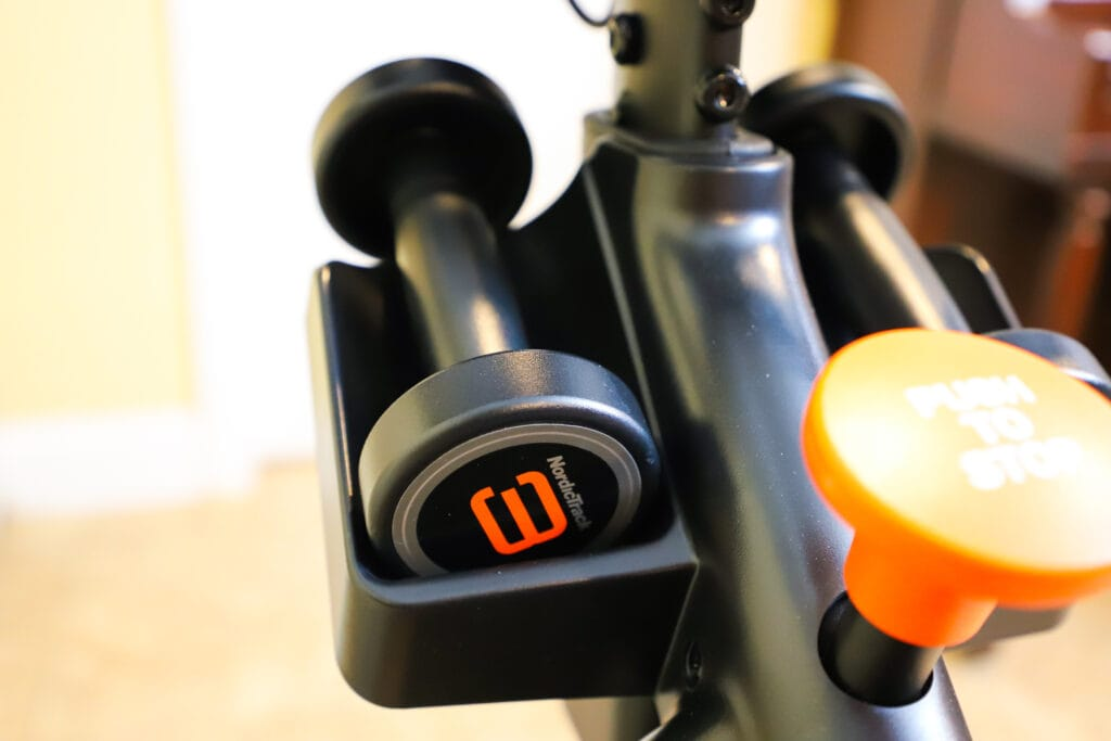 dumbbells comes as accessories with spin bike
