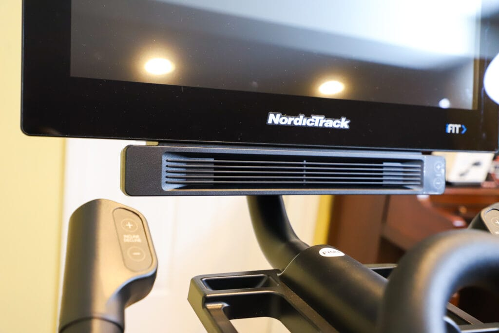 closeup of screen from NordicTrack bike