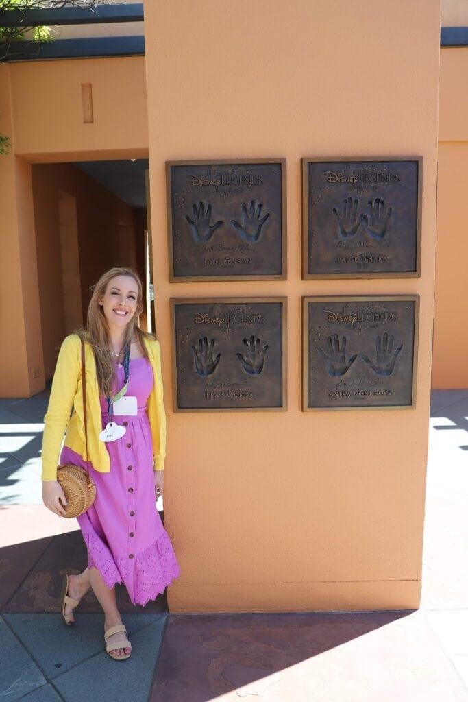 Walt Disney Studio Hand prints
