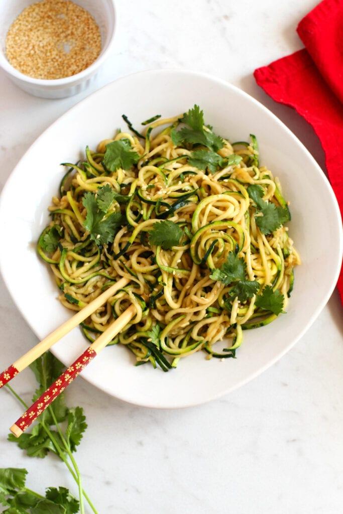Asian Zucchini Noodles