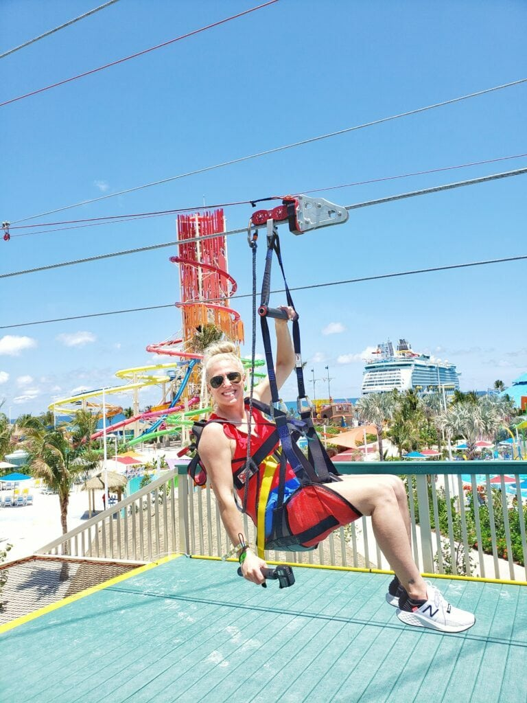 zip lining in the Bahamas